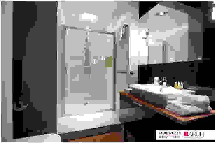 mały LOFT dla singla Minimalistyczna łazienka od Borowczyk Architekci Minimalistyczny