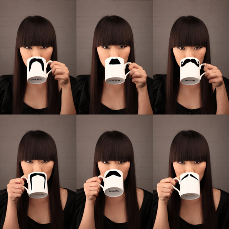 Original Moustache Mugs - Set of 3 Eclectic style kitchen by Peter Ibruegger Studio Eclectic