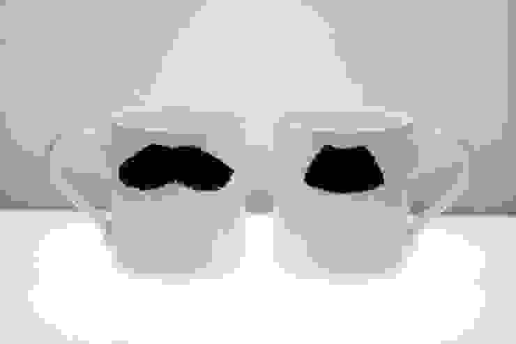 Original Moustache Mug - Mustafa Chaplin Eclectic style kitchen by Peter Ibruegger Studio Eclectic