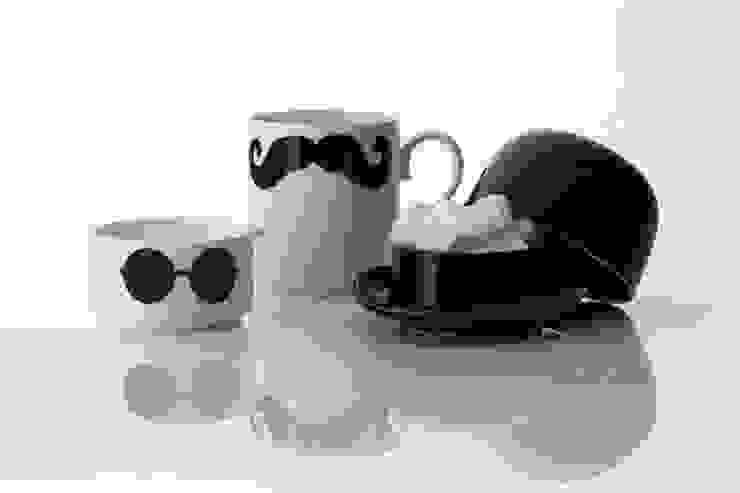 Original Moustache mug, milk jug and sugar bowl Set Eclectic style kitchen by Peter Ibruegger Studio Eclectic