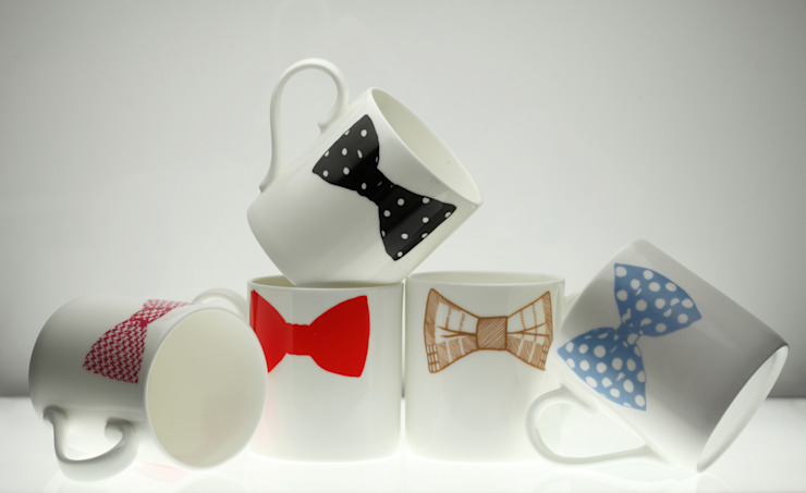 Original Bow Tie Mugs - Set of 5 Eclectic style kitchen by Peter Ibruegger Studio Eclectic