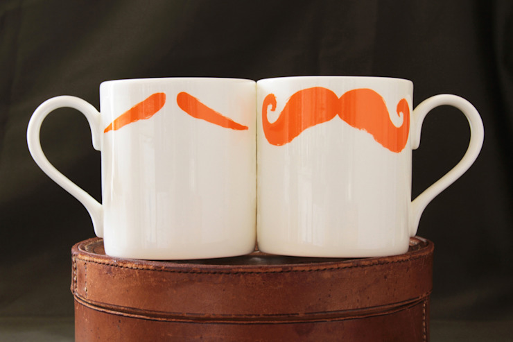 Original Moustache Mug - Maurice Poirot (Ginger) Eclectic style kitchen by Peter Ibruegger Studio Eclectic