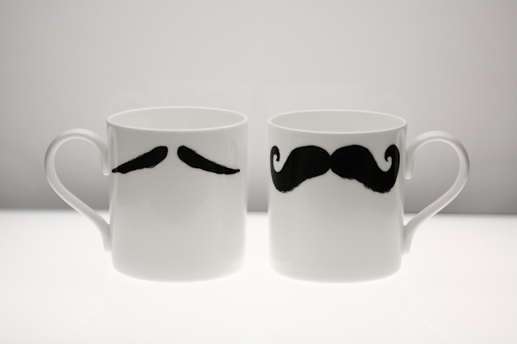 Original Moustache Mug - Maurice Poirot Eclectic style kitchen by Peter Ibruegger Studio Eclectic