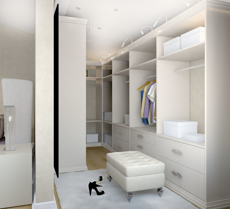 Универсальная история Modern style dressing rooms