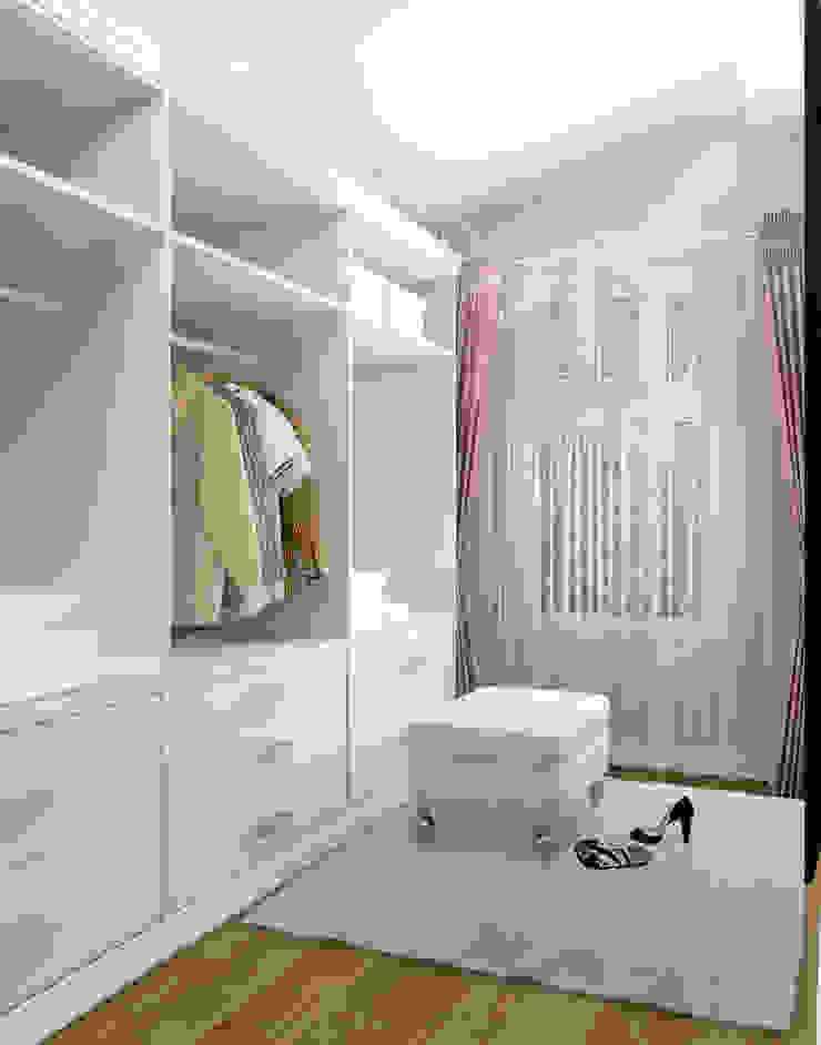 Гардеробная 2 этаж при спальне Гардеробная в стиле модерн от Универсальная история Модерн