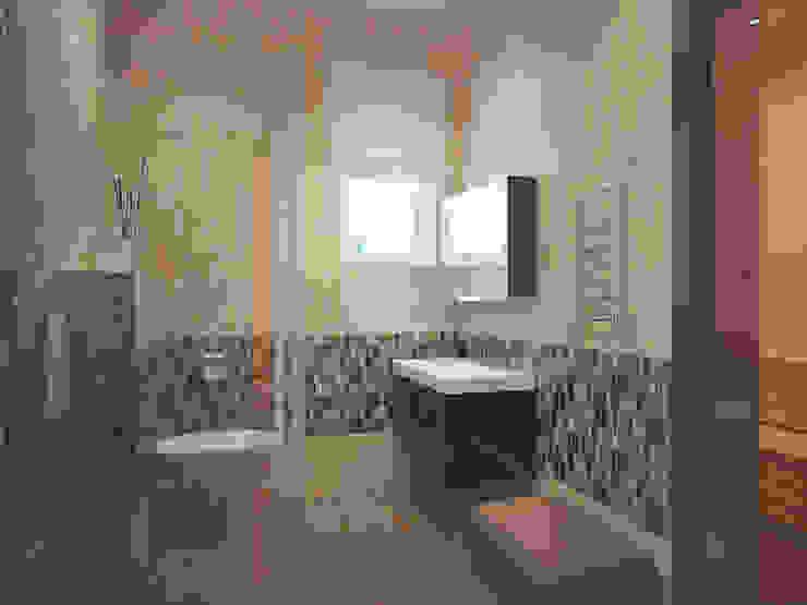Ванная 1 этаж Ванная комната в стиле модерн от Универсальная история Модерн