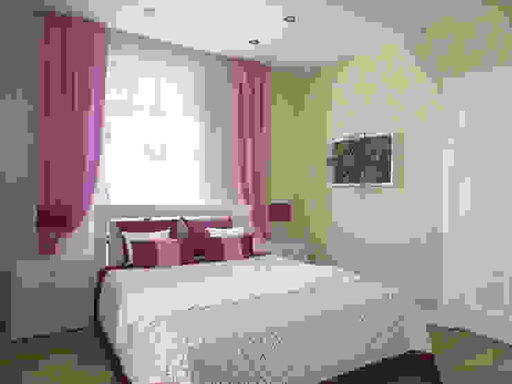 Гостевая спальня 1 этаж Спальня в стиле модерн от Универсальная история Модерн