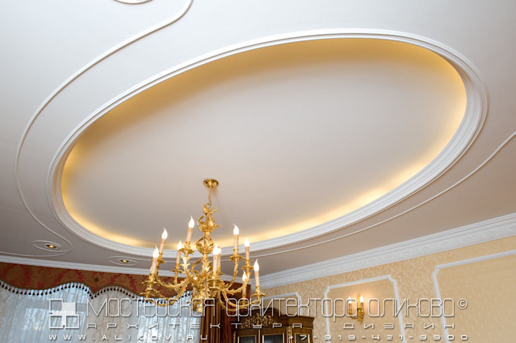 Потолок гостиной Гостиная в классическом стиле от Мастерская архитектора Аликова Классический
