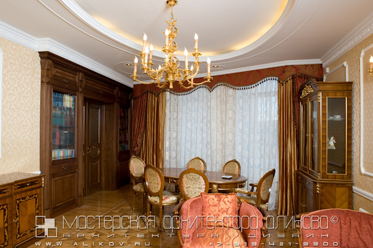 Гостиная в классическом стиле Мастерская архитектора Аликова Гостиная в классическом стиле