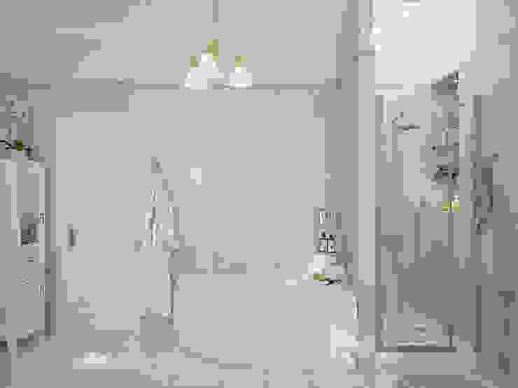 Ванная комната с орхидеями Ванная комната в стиле модерн от Студия дизайна Interior Design IDEAS Модерн