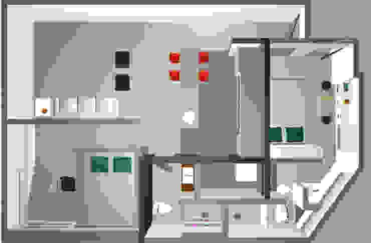 planta baixa apartamento Ipanema por Margareth Salles Moderno