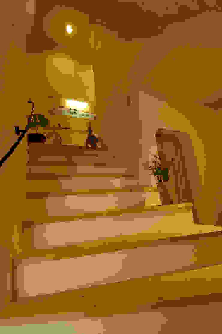 大森建築設計室 Eclectic style corridor, hallway & stairs