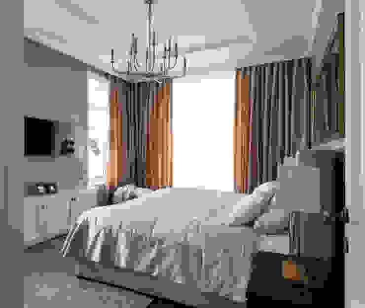 Дом в легкой классике Спальня в классическом стиле от MARTINarchitects Классический