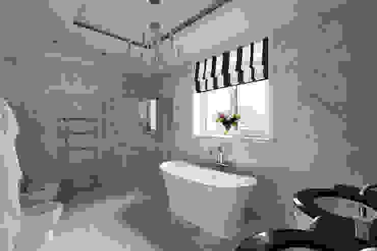 Дом в легкой классике Ванная в классическом стиле от MARTINarchitects Классический
