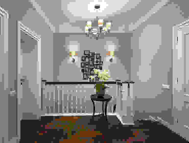 Couloir, entrée, escaliers classiques par MARTINarchitects Classique