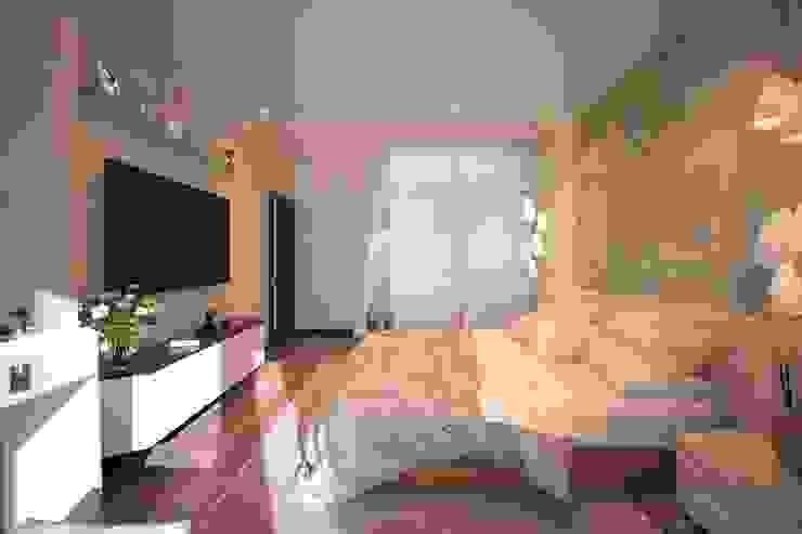 Chambre moderne par Студия интерьерного дизайна happy.design Moderne