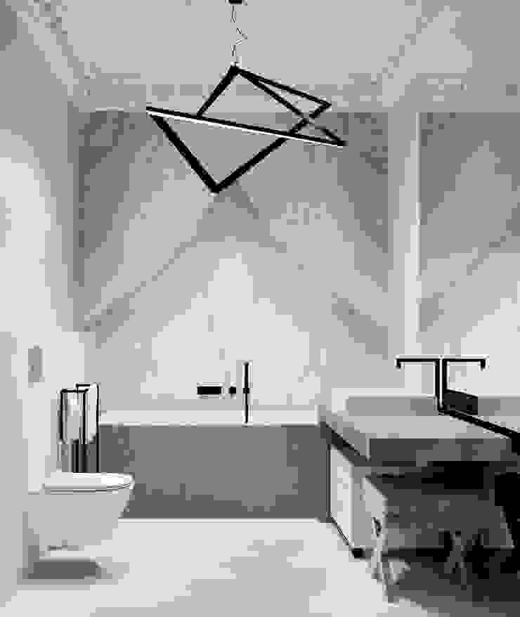 Дизайн-проект квартира Остоженка Ванная комната в стиле минимализм от Projecto2 Минимализм