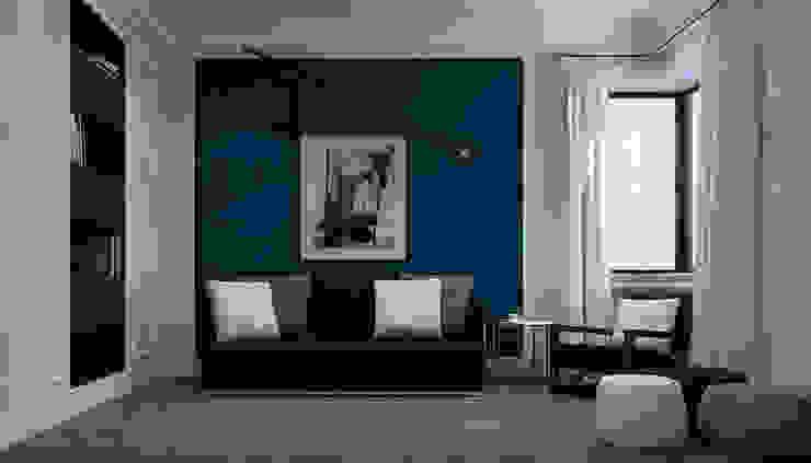 Дизайн-проект квартира Остоженка Рабочий кабинет в стиле минимализм от Projecto2 Минимализм