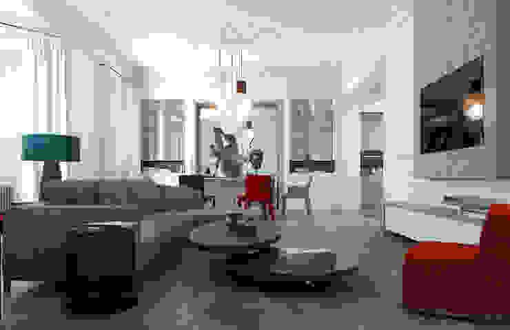Дизайн-проект квартира Остоженка Гостиная в стиле минимализм от Projecto2 Минимализм