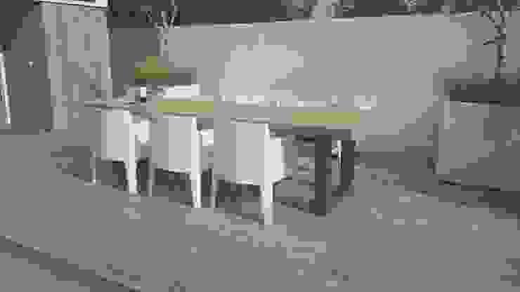 Boomstamtafels voor buiten:  Balkon, veranda & terras door Woodlovesyou&more,