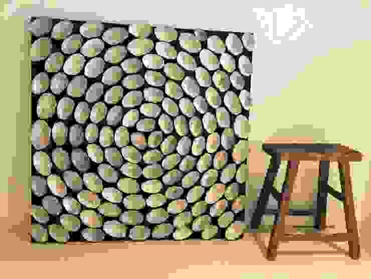 Schelpenschilderij 100x100cm: modern  door Woodlovesyou&more, Modern