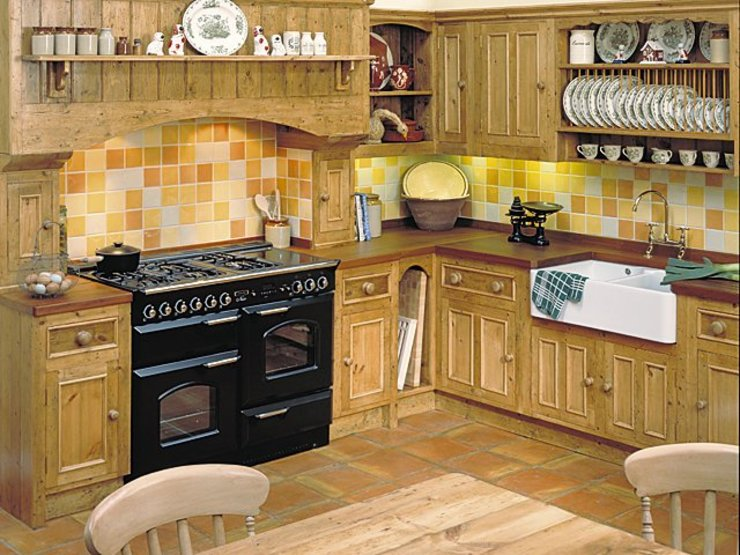 Iroko worktop Dapur Gaya Country Oleh Bordercraft Country