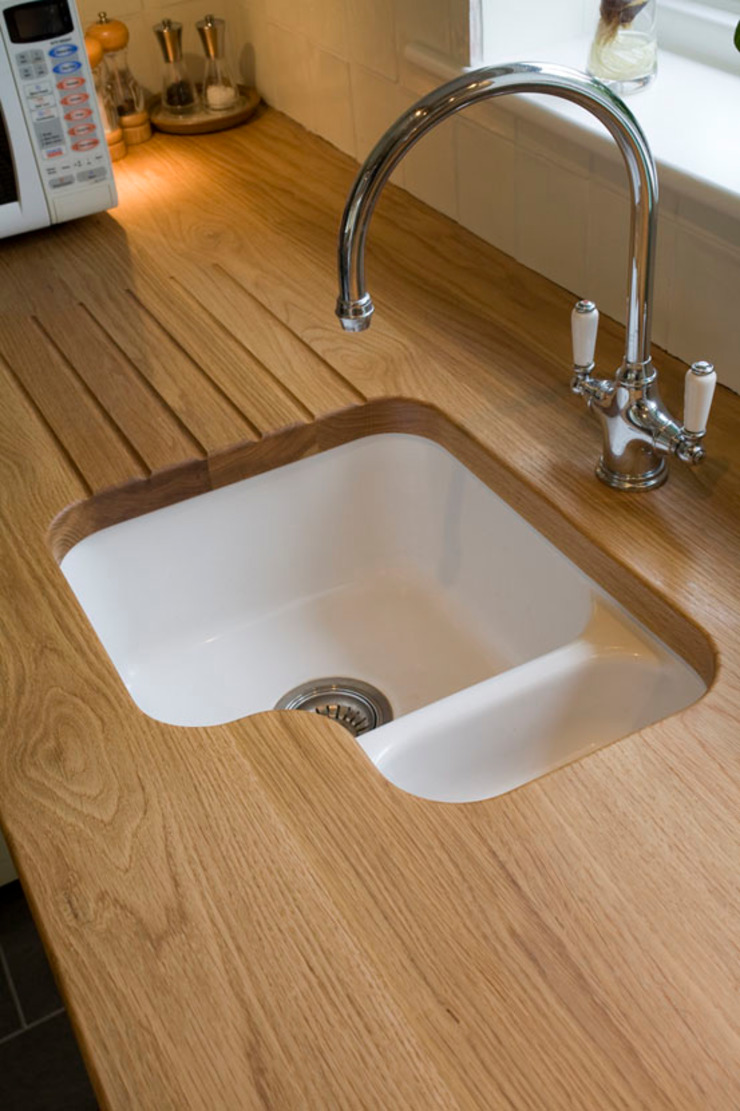 Oak drainer Bordercraft Modern Kitchen