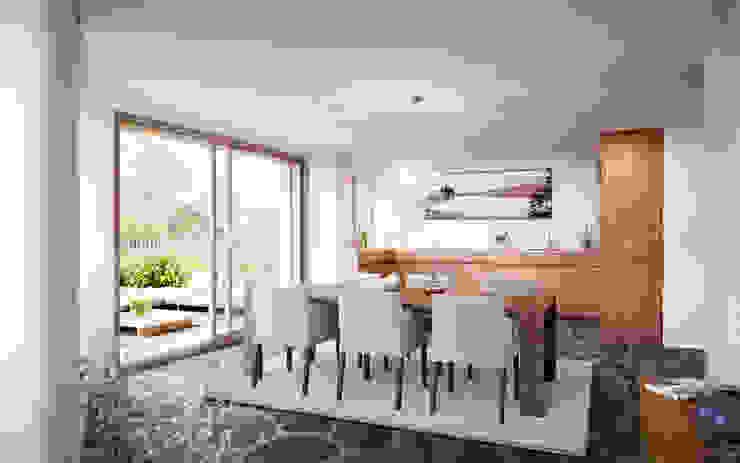 Phòng ăn phong cách mộc mạc bởi von Mann Architektur GmbH Mộc mạc