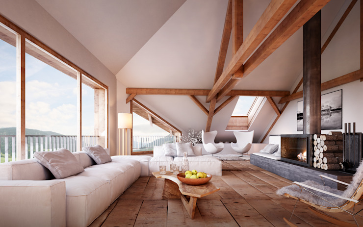 Living room by von Mann Architektur GmbH, Rustic
