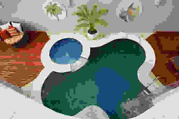 Hồ bơi phong cách hiện đại bởi Arquiteto Aquiles Nícolas Kílaris Hiện đại