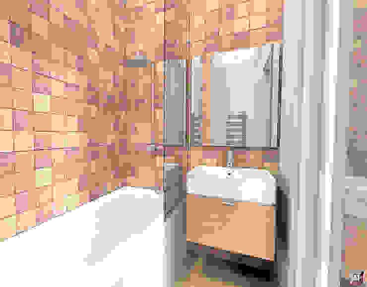 Квартира в Южном городе Ванная комната в стиле модерн от A.workshop Модерн