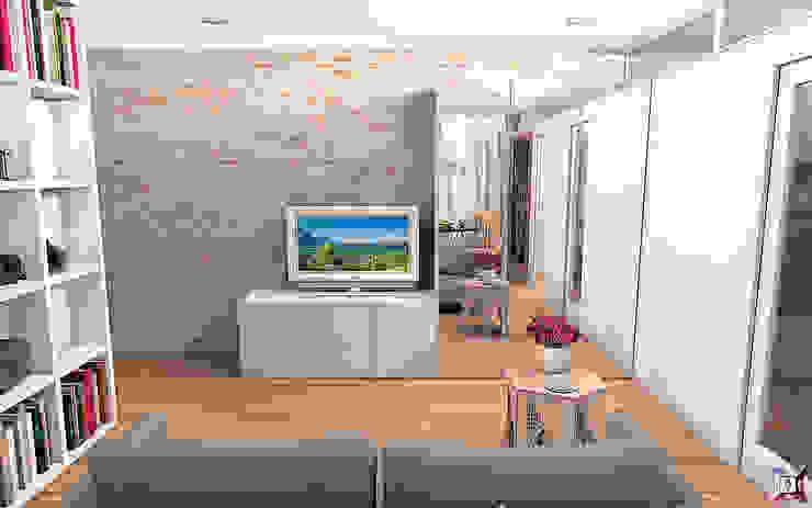Квартира на ул. Первомайская Гостиная в стиле лофт от A.workshop Лофт