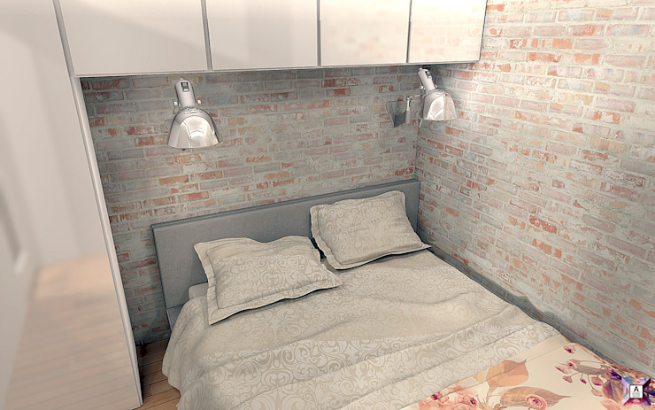 Квартира на ул. Первомайская Спальня в стиле лофт от A.workshop Лофт