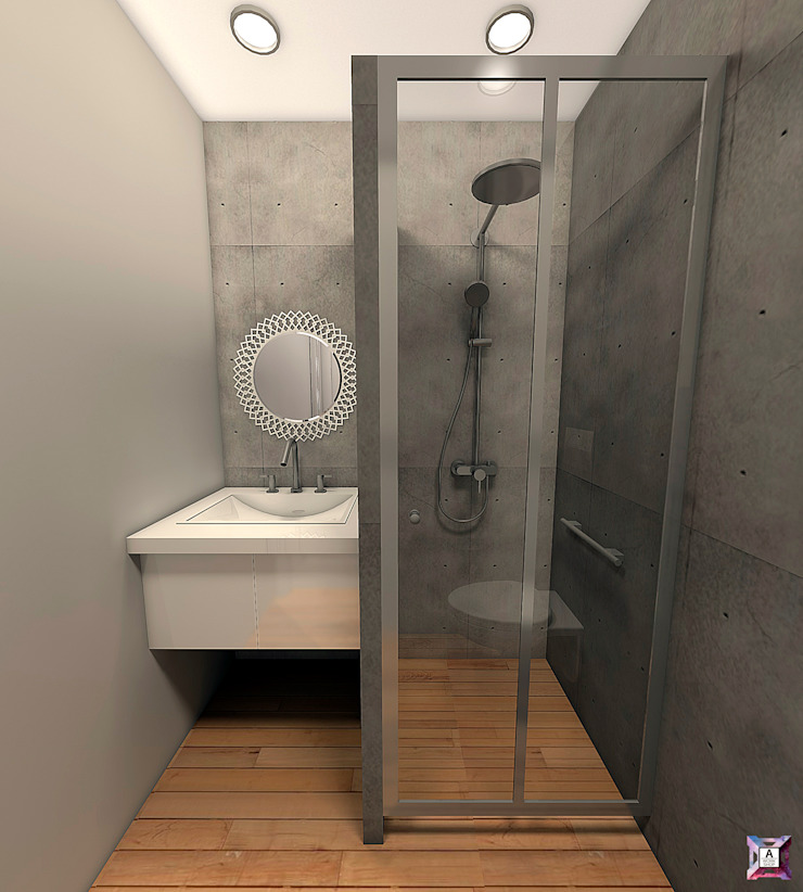 Квартира на ул. Первомайская Ванная в стиле лофт от A.workshop Лофт