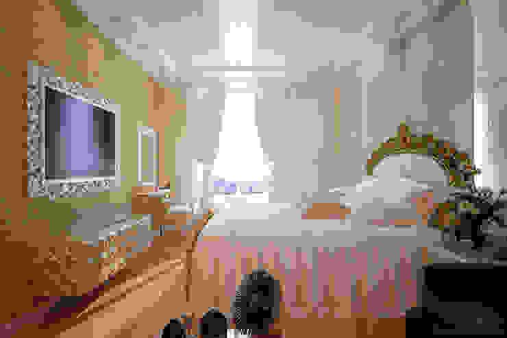 """Дизайн спальни в ЖК """"Солнечный город"""" Спальня в эклектичном стиле от Студия интерьерного дизайна happy.design Эклектичный"""