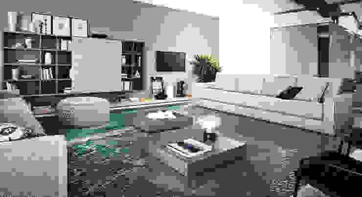 Pavimento 3d Pareti & Pavimenti in stile industriale di Tech & Graphic Project Industrial
