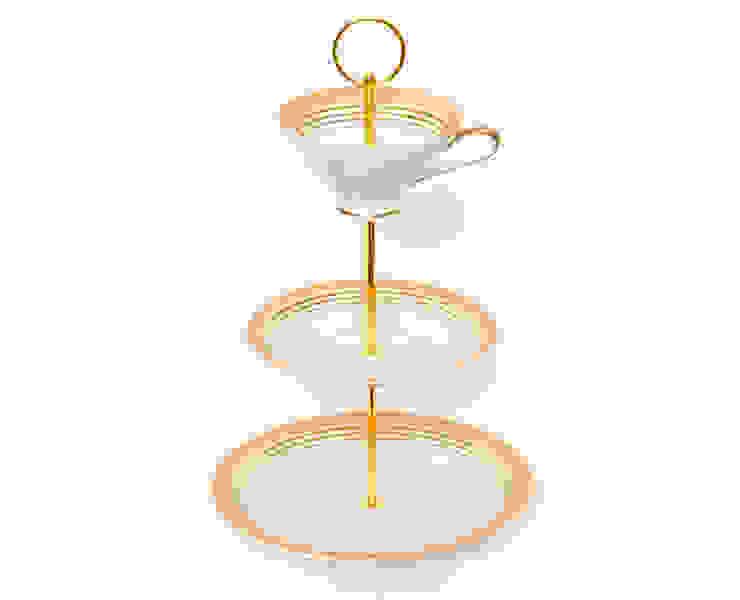 Lieselotte Etagere aus Vintage Sammeltasse apricot-gold Lieselotte KücheBesteck, Geschirr und Gläser