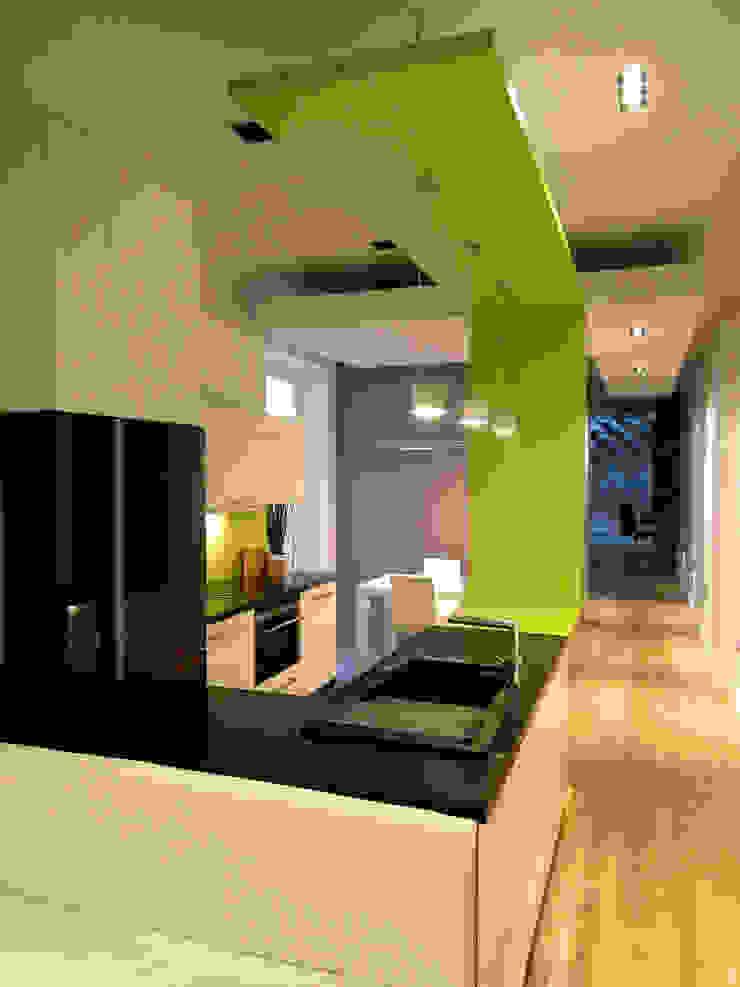 Mieszkanie Katowice Nowoczesna kuchnia od LMarchitekt Nowoczesny