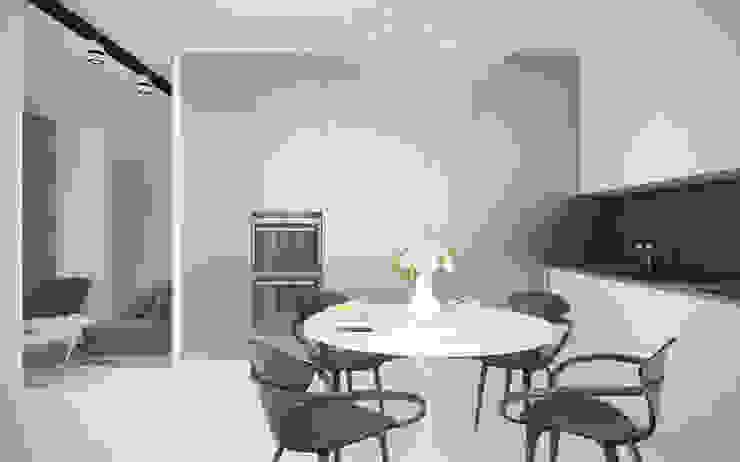 現代廚房設計點子、靈感&圖片 根據 White & Black Design Studio 現代風