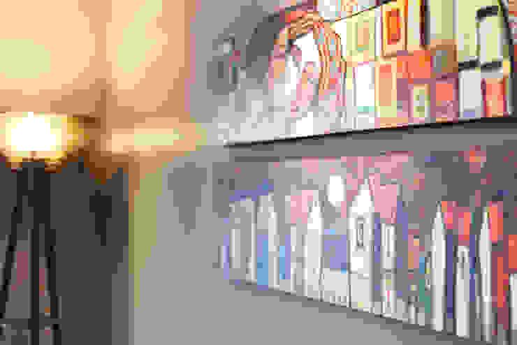 Apartamento Menino Deus Paredes e pisos modernos por Arquiteto Gustavo Redlich & Associados Moderno