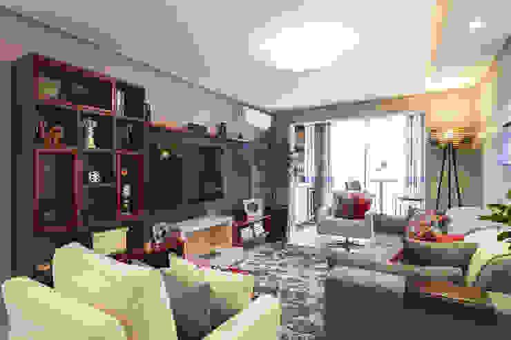 Apartamento Menino Deus Salas de estar modernas por Arquiteto Gustavo Redlich & Associados Moderno