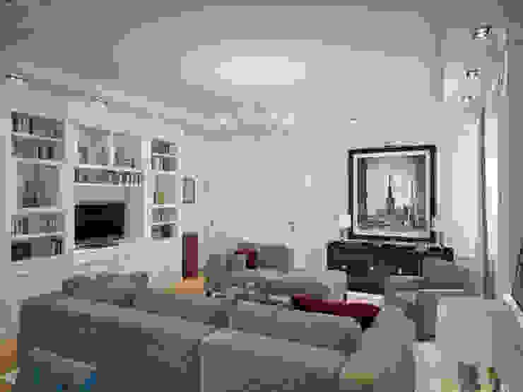 Дизайн квартиры в неоклассическом стиле Гостиная в классическом стиле от White & Black Design Studio Классический