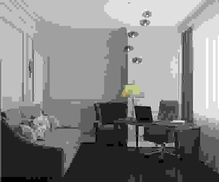 Дизайн квартиры в неоклассическом стиле Рабочий кабинет в классическом стиле от White & Black Design Studio Классический