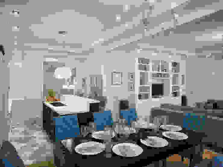 Дизайн квартиры в неоклассическом стиле Столовая комната в классическом стиле от White & Black Design Studio Классический