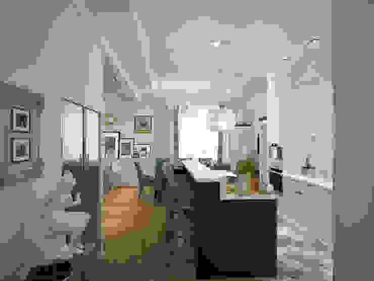 Дизайн квартиры в неоклассическом стиле Кухня в классическом стиле от White & Black Design Studio Классический