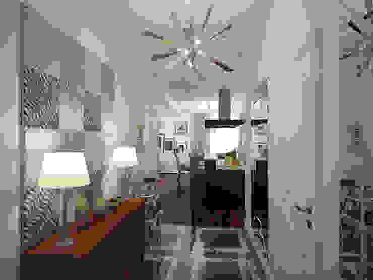 經典風格的走廊,走廊和樓梯 根據 White & Black Design Studio 古典風