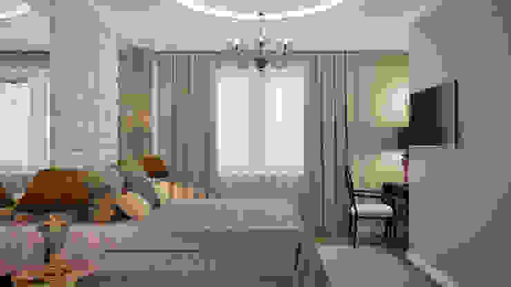 Дизайн квартиры в неоклассическом стиле Спальня в классическом стиле от White & Black Design Studio Классический