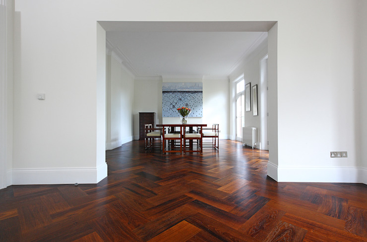 South Brompton Apartments, London Minimalist dining room by PAD ARCHITECTS Minimalist