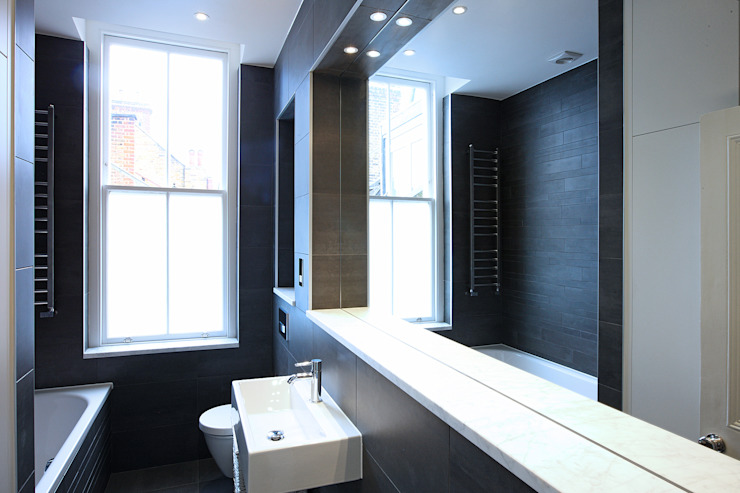 South Brompton Apartments, London Minimalist bathroom by PAD ARCHITECTS Minimalist