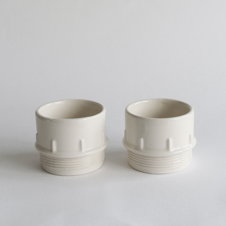 Pipe Condiment Cups: industrial  by StolenForm, Industrial